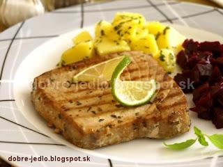 Grilovaný steak z tuniaka - recepty