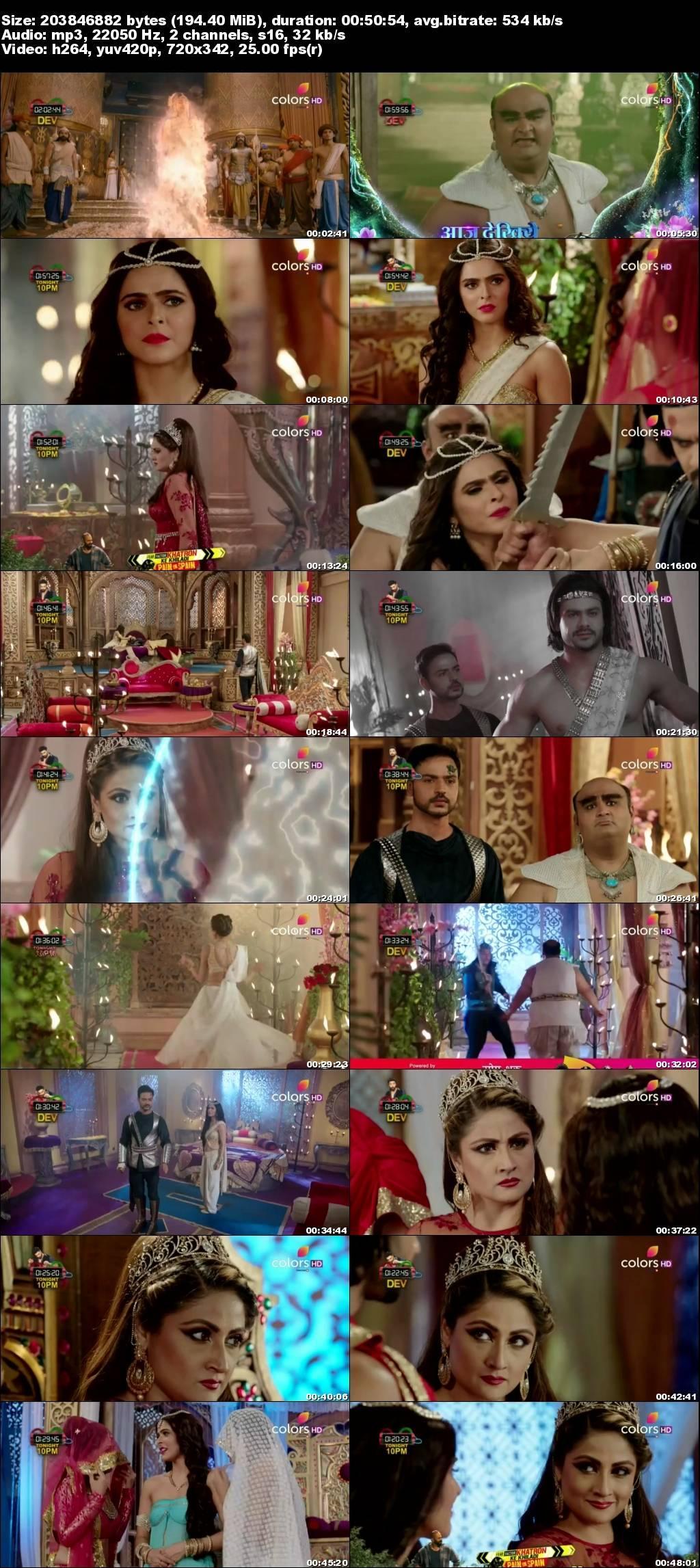 Screenshots Of Hindi Show Chandrakanta 2017 6th August Episode 13 300MB 480P HD