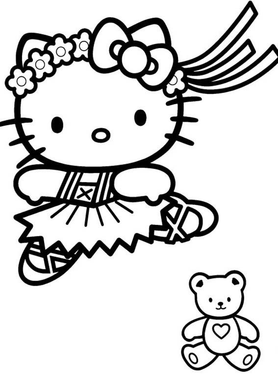 Desenhos Preto e Branco Hello Kitty Fofo Colorir