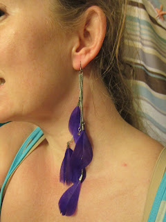All The Rage Feather Duster Earrings