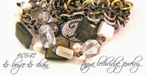 Golden Obsidian, Crystal Quartz & Pearl Bracelet