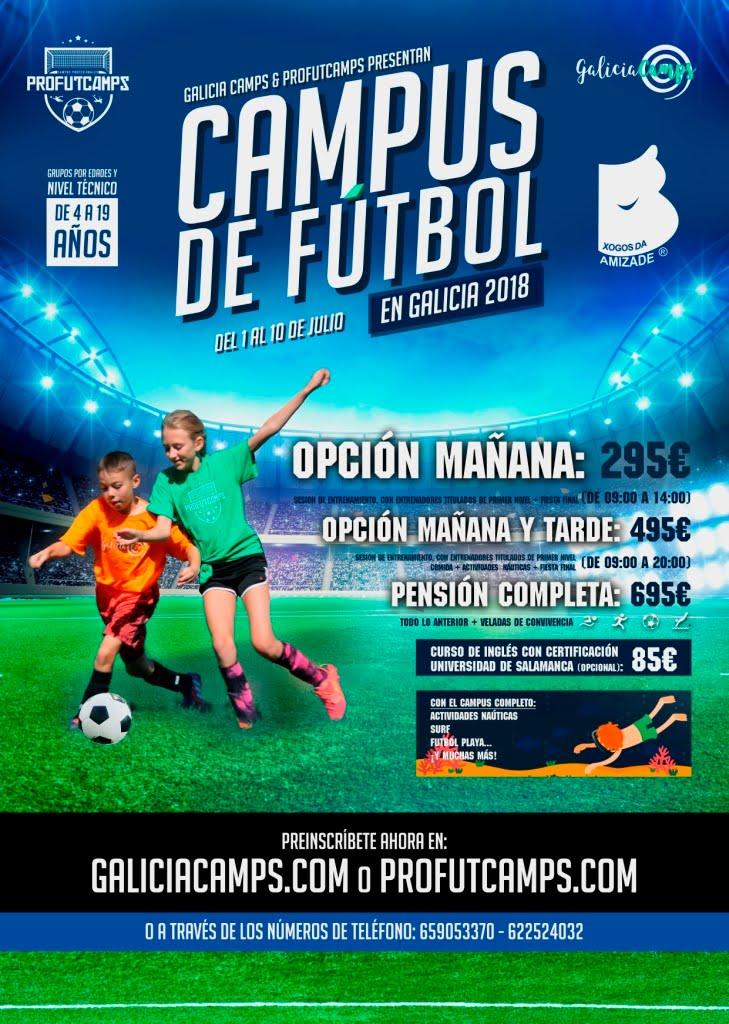 Campus de fútbol verano en Galicia