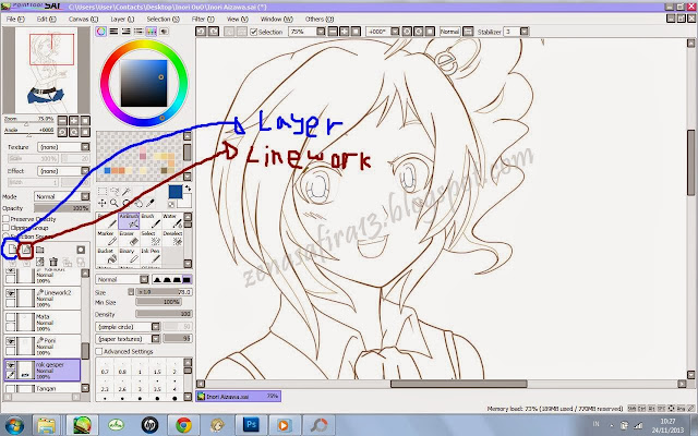 Paint Tool Sai Live Screen