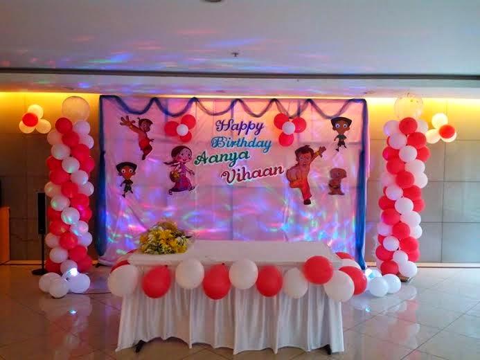 Balloon theme decoration for birthday parties for Balloon decoration for naming ceremony