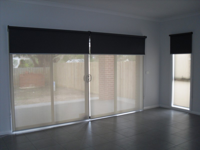 Gallery For gt Roller Blinds Sliding Glass Doors