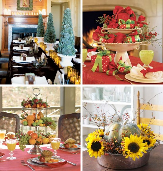 Christmas Decoration Ideas, Christmas Table Decorations, Christmas