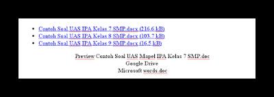 Contoh Soal UAS Kels 7 | 8 | 9 SMP Mapel IPA