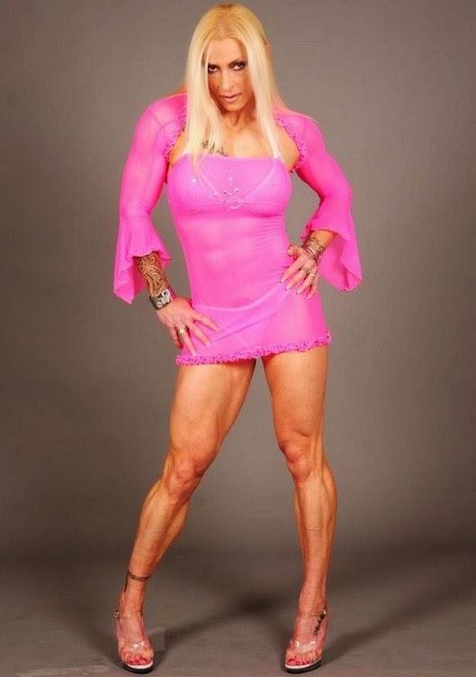 Bodybuilders féminins mixtes lutte gloria