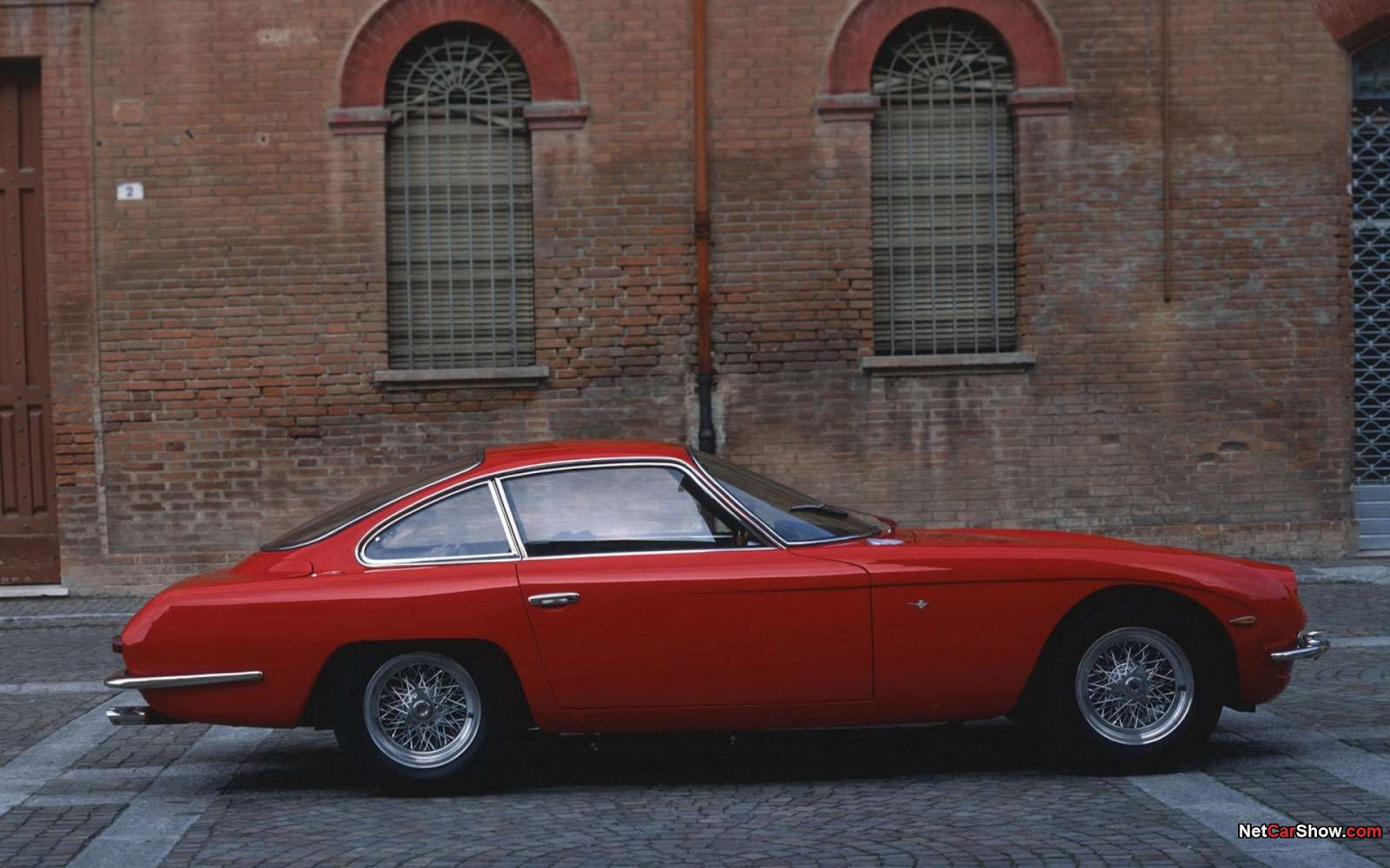 1964 Lamborghini 350 GT Wallpaper (RED LAMBO RACER)