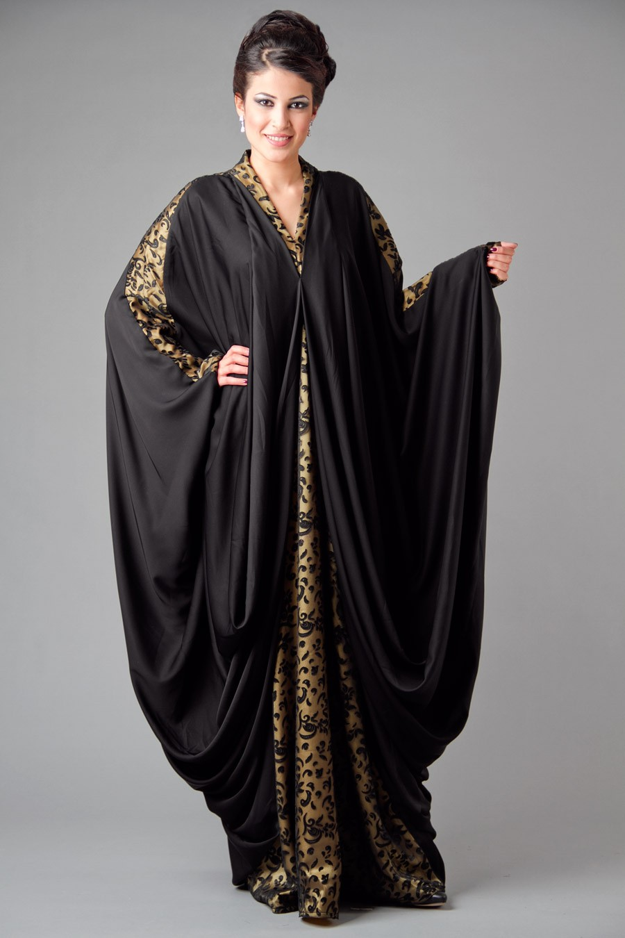 Embroidered abaya designs 2013 islamic abaya dress Fashion style in pakistan 2013