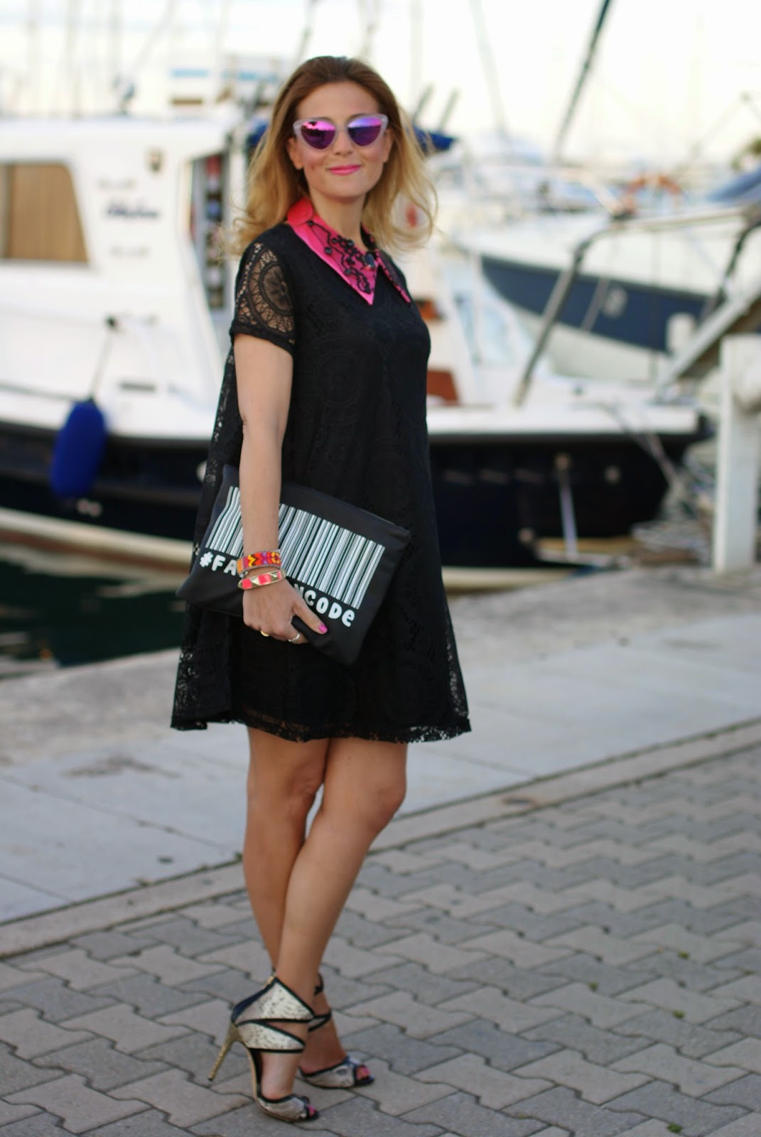 Essequadro eyewear, Fato creazioni, Blackfive lace dress, Fashion and Cookies, fashion blogger