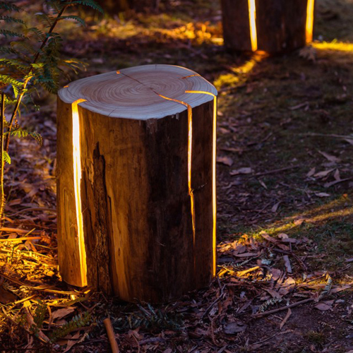 Cracked Wooden Lamp