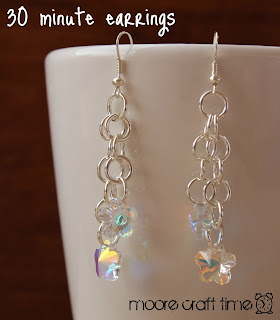 crafty jewelry: super quick crystal earrings