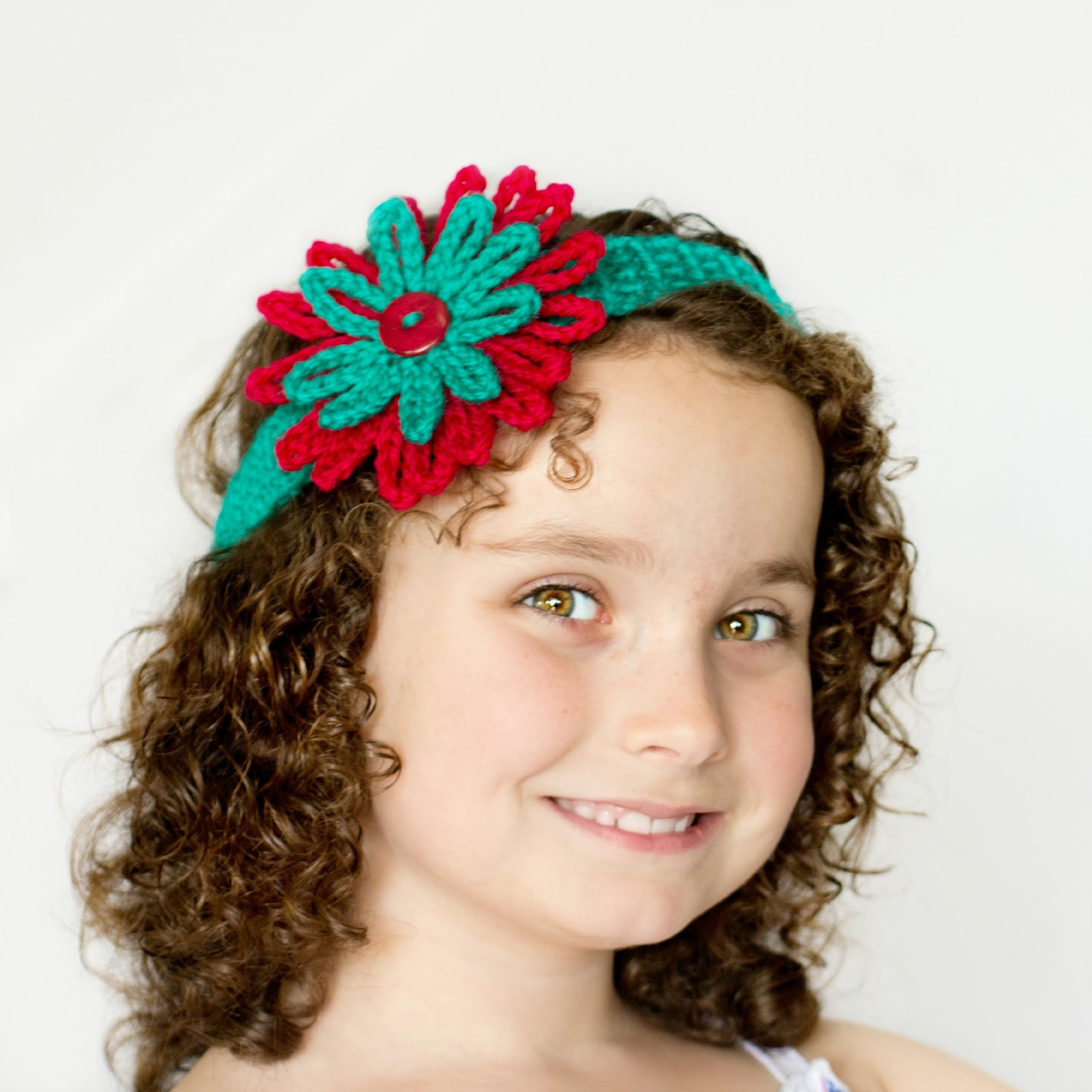 Free Crochet Pattern Flowers Headbands : Hopeful Honey Craft, Crochet, Create: Season Of Giving ...