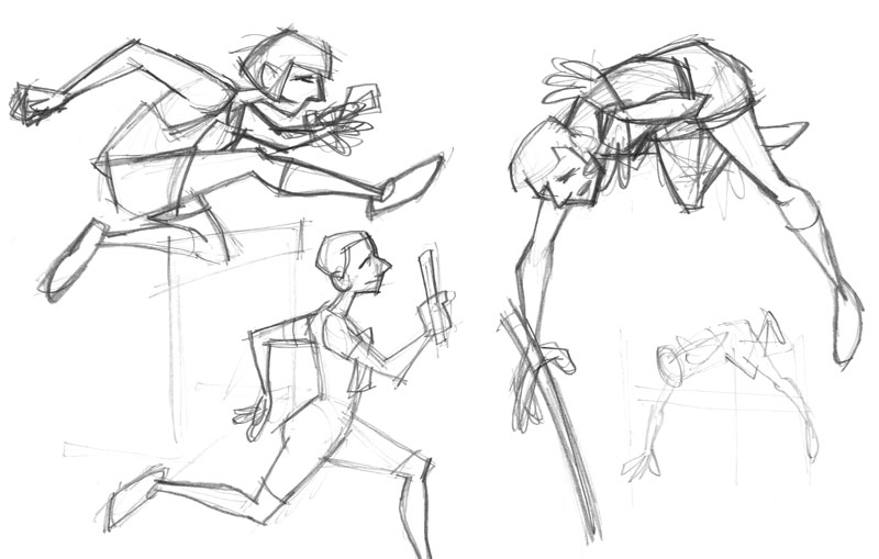track and field sketches