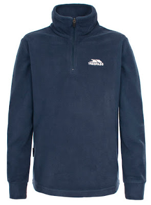Trespass Men's Masonville AirTrap100 1/2 Zip Fleece Jumper - Navy Blue