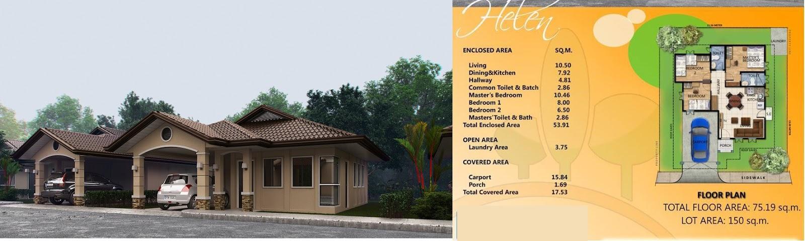 Villa Conchita Helen House Floor Plan