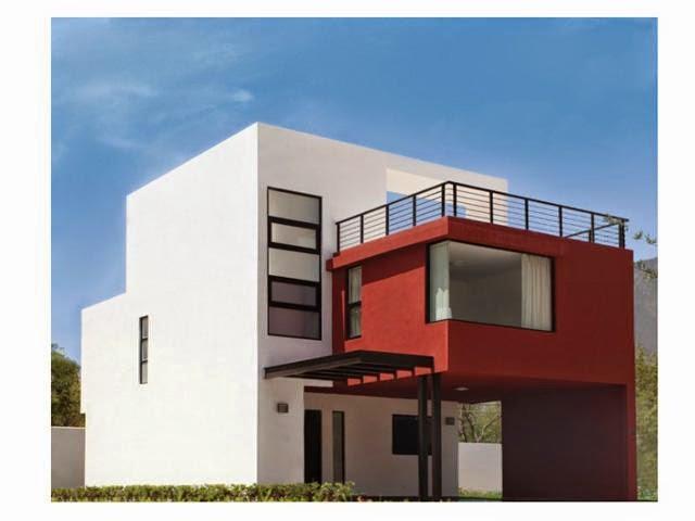 Fachadas de casas modernas moderna casa con amplia for Pisos terrazas modernas
