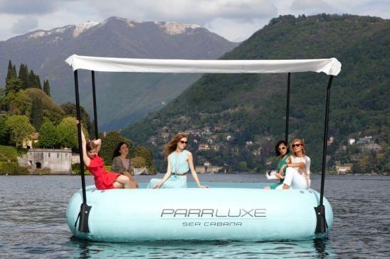 parrluxe sea cabana luxury inflatable raft new york