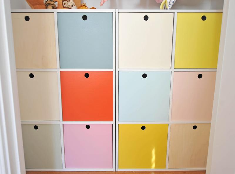 DIY Cube Closet Storage Organizer