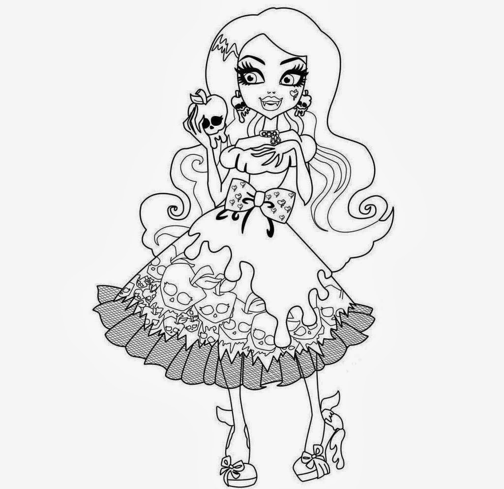The Free Best 100 Printable Monster High Coloring Drawing Free wallpaper