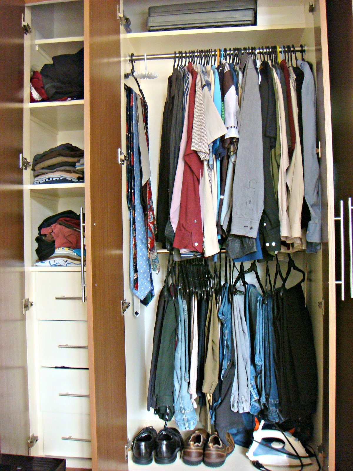 Fresh and organized organizing and maximizing space in a small closet - Closet storage ideas small spaces model ...