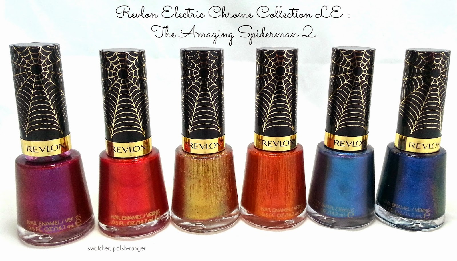 Revlon Electric Chrome Collection limited edition : The Amazing Spiderman Two