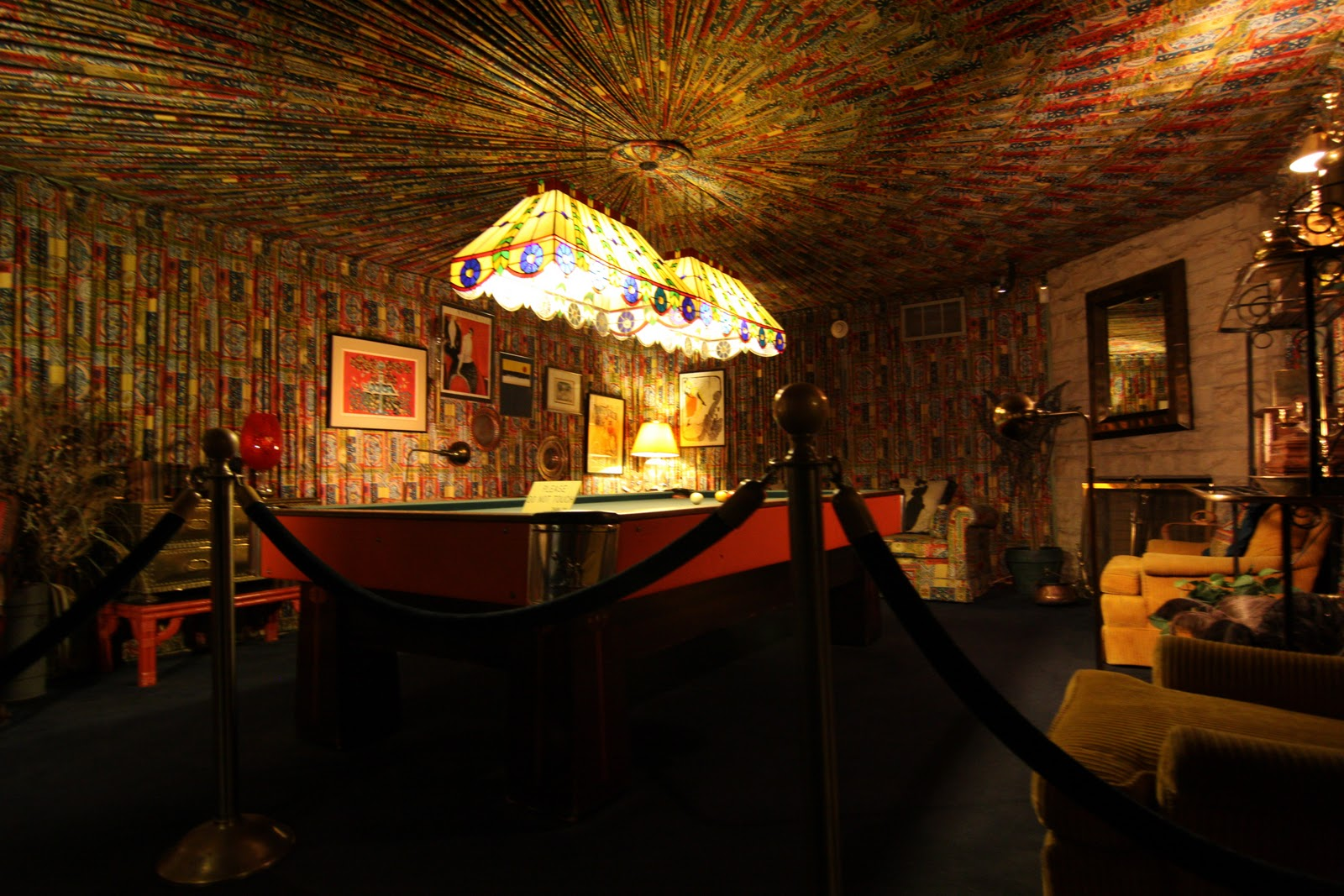 """Cadillac Ranch Nashville Tn The infamous """"Jungle Room"""" so named only after Elvis' passing when ..."""