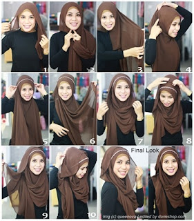 Tutorial Hijab Pashmina dengan Headband