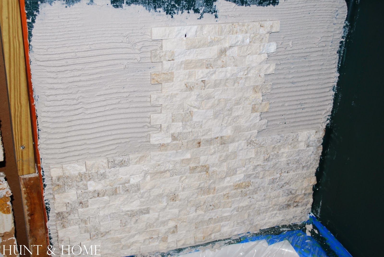 how to install stacked stone tile in shower