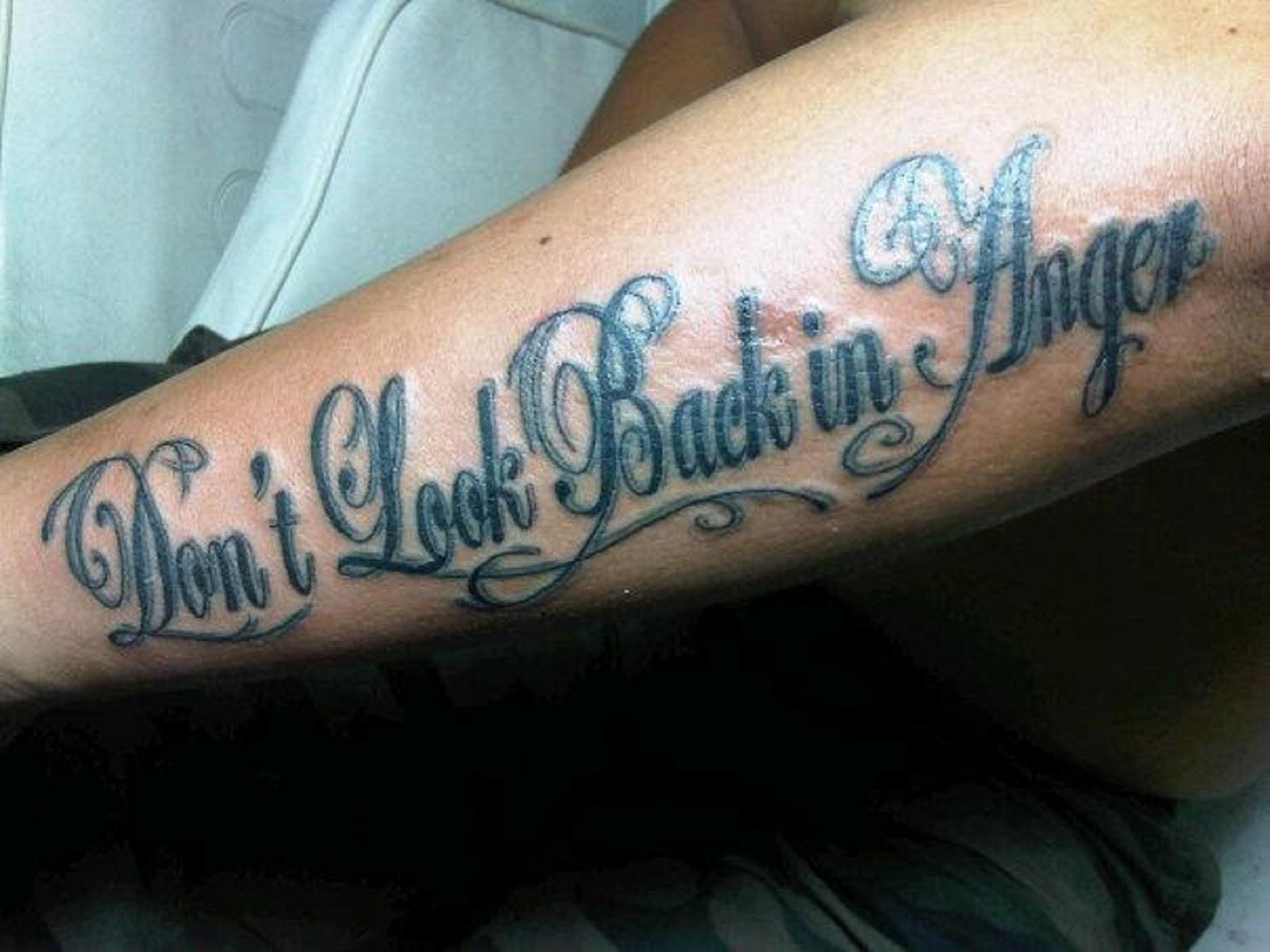 E Tattoo Tato Tulisan