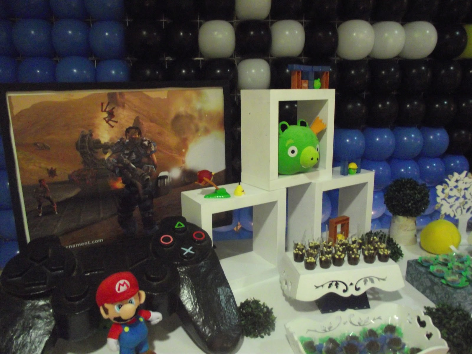 bloghappyparty decoraç u00e3o de festa de video game # Decoração De Festa Xbox