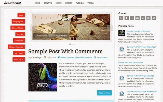 Conseil Iscomigoo #1: Sélection de templates Blogger, Sensational