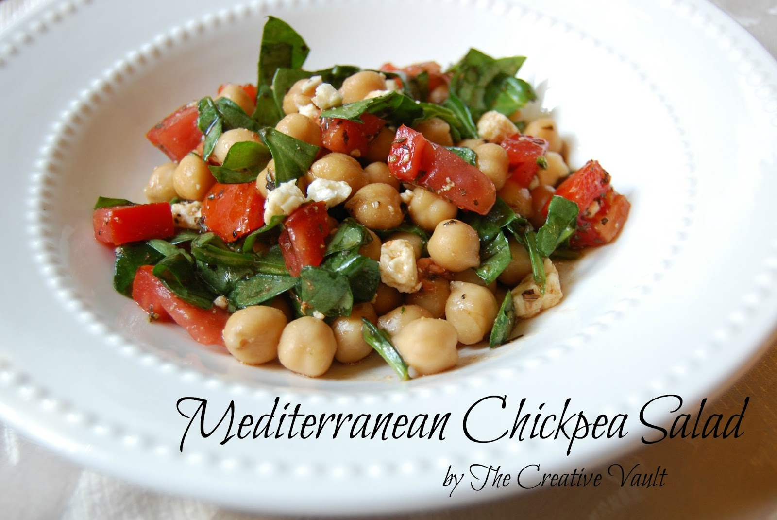 Mediterranean Garbanzo Salad Recipe — Dishmaps