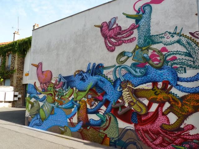 Street Art By Alëxone For The Kosmopolite Street Art Festival In Bagnolet, France. 3