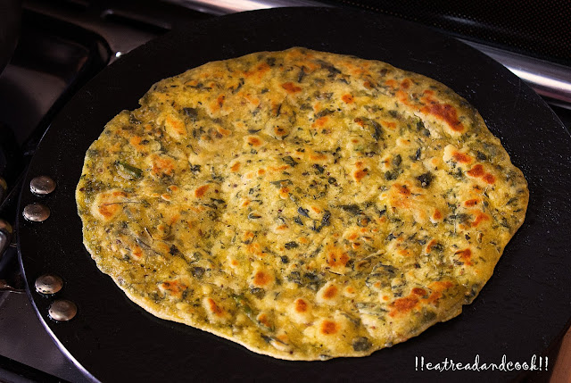 methi paratha indian recipe