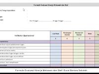 Formulir Evaluasi Kinerja Wakasek dan Staf - Excel Berkas Sekolah