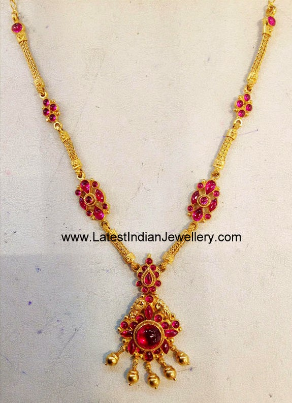 Classic Light Weight Ruby Necklace