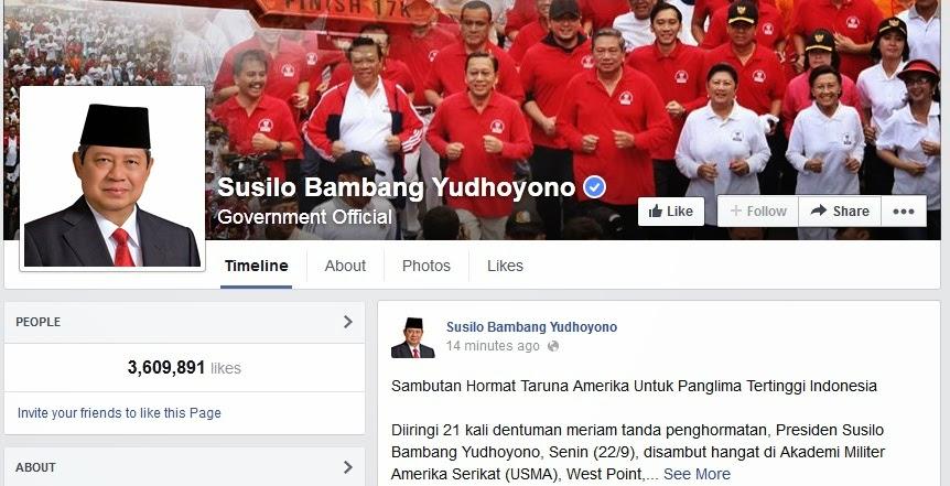 facebook Susilo Bambang Yudhoyono (SBY)