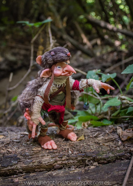 cunning elf goblin faerie fantasy ooak sculpture