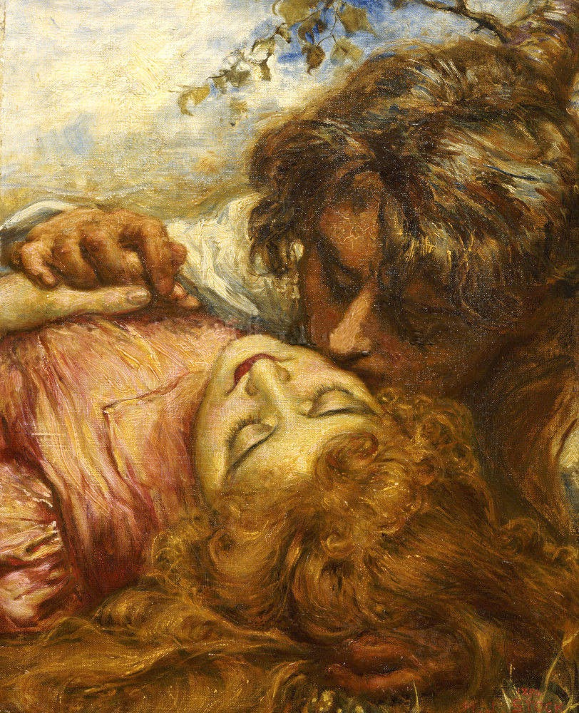 Henry John Stock - The Kiss, 1894