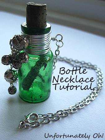 Bottle necklace tutorial