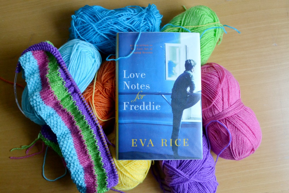 baby blanket knitting yarn rainbow love notes for freddie eva rice library book