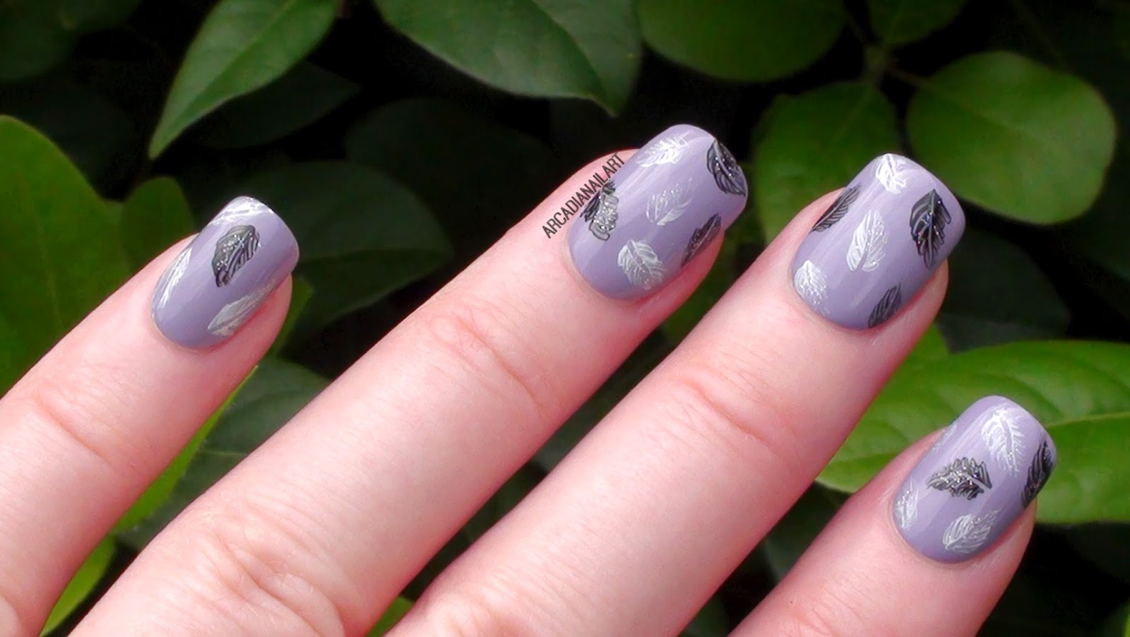 Feather Nail Art By ArcadiaNailArt