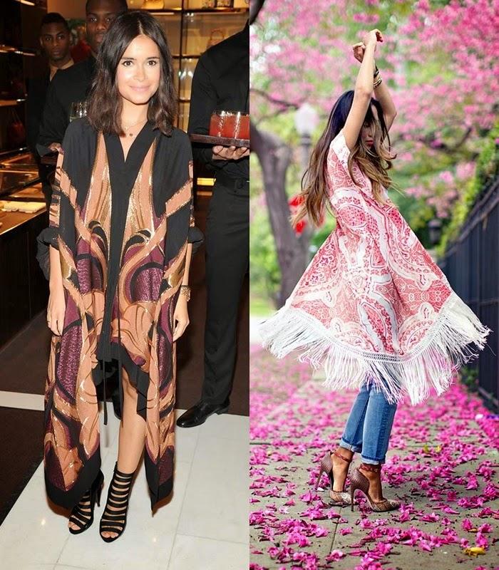 Quimonos Kimonos - primavera verão 2015 moda de rua street style