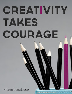 quote poster:Creativity takes courage.- Henri Matisse
