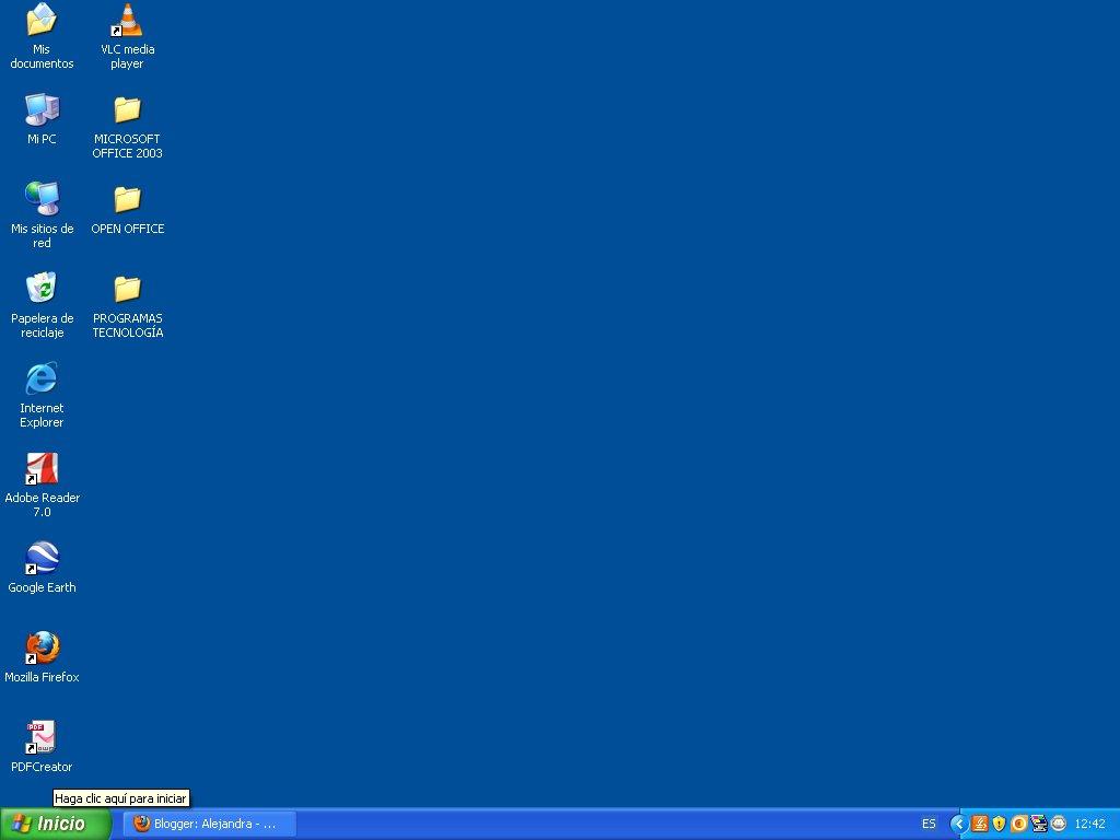 windows escritorio: