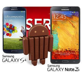 Samsung Galaxy S4 & Note 3 Android 4.4 KitKat Update Coming Soon