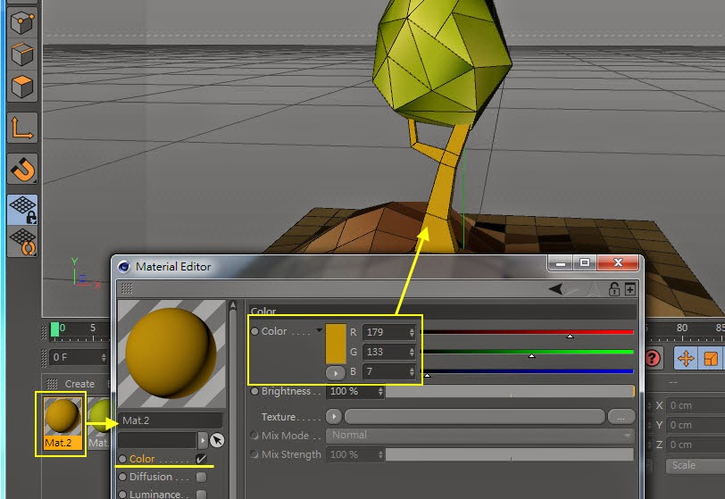 Low-Poly & GI Baking in Cinema 4D 09