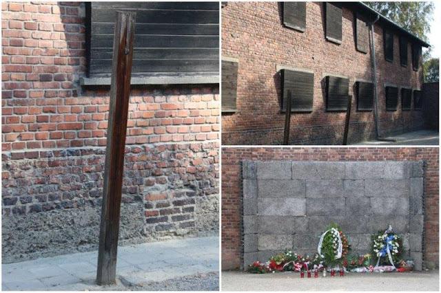 Zona de castigo y ejecución de prisioneros – Paredon de la Muerte en el campo de concentración de Auschwitz I